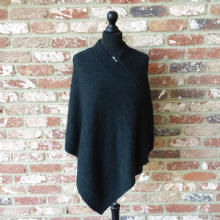 Merino Possum Zip Cape Charcoal